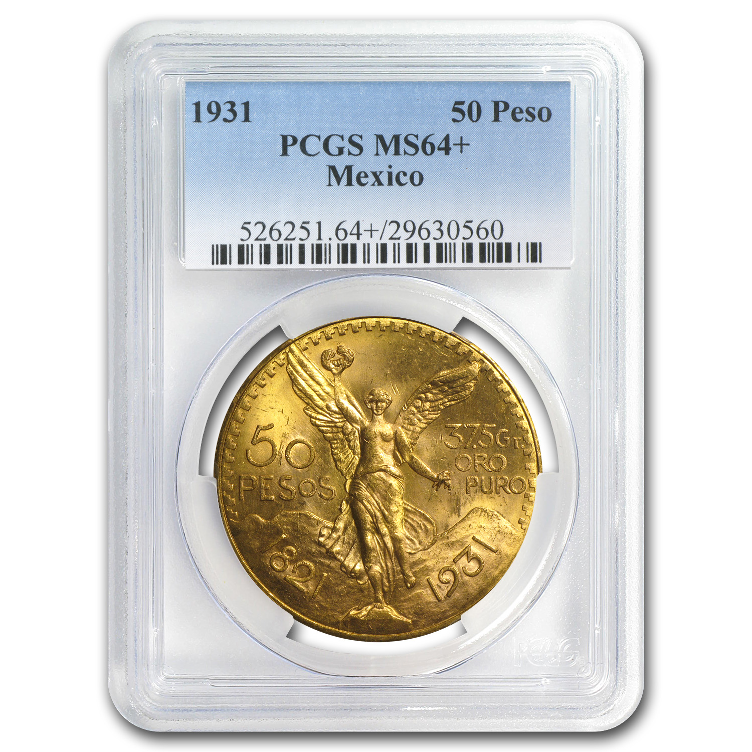 Mexico 1931 50 Pesos Gold MS-64+ PCGS
